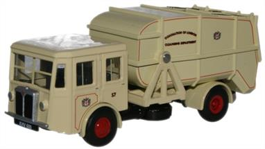 Oxford Diecast 1/76 Corporation of London Shelvoke & Drewry Dustcart 76SD005