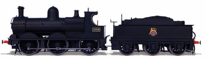 Oxford Rail OR76DG002 00 Gauge BR 2409 ex-GWR 2301 Class Dean Design Standard 0-6-0 Goods Engine British Railways Black Early Emblem.This model of 2409 is finished in British Railways plain black livery with the early lion over wheel emblem.DCC Ready