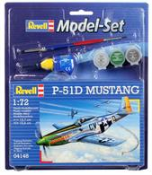 Revell 1/72 P-51D Mustang Model Set 64148Length 137mm	Number of Parts 34		Wingspan 156mmComes with glue and paints to assemble and complete the model.