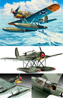 Revell 1/72 Arado 196 A-3 Seaplane Kit 03994Revell's 03994 1/72nd scale plastic kit of the German World War 2 Arado 196 SeaplaneLength 152mmNumber of Parts 43Wingspan 174mmGlue and paints are required