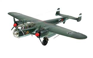 Revell 1/72 Dornier Do 17 z German WW2 Bomber Kit 04655Model-details:- Detailed surface structure - Detailed Cockpit including instrument Panel - Rotating Propellers: - Detailed Undercarriage - 4 Crew Members - Machine Guns - Decal Set for two Luftwaffe versions.Number of parts 59.Model length 218mm, Wingspan 250mm.Glue and paints are required