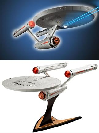 Revell 1/600 Enterprise NCC-1701 from Star Trek Kit 04880Length 481mmNumber of parts 71Glue and paints are required