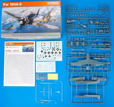 ProfiPACK edition kit of German WWII fighter aircraft Fw 190A-3 in 1/48 scale.