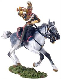 W Britain Bugler of the French 3rd Lancers2 Piece Set1/30 ScaleMatt Finish