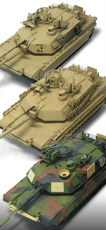 Academy US Army A1A2 Abrams MBT Tank Kit 1/35 13504Glue and paints are required