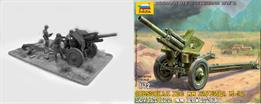 Zvezda 1/72 M30 Soviet 122mm Anti Tank Gun WW2 Plastic Kit 6122