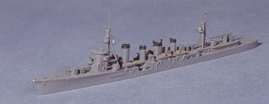 This was the first Japanese cruiser to be built with the distinctive clipper bow. Sistership Jintsu gained one after a collision but Sendai retained the original bow shape until she was sunk (see Neptun 1244).