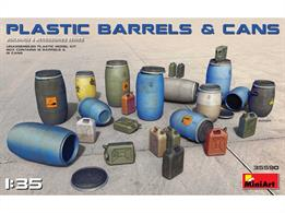 MiniArt 35590 1/35th Plastic Barrels And Cans Kit