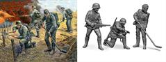 Zvezda 1/72 German Sturmpioneers 1939-1942 4 Figure Set Snap Fit 6110.
