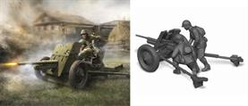 Zvezda 1/72 Soviet 45mm Anti Tank Gun With Crew Snap Fit 6112