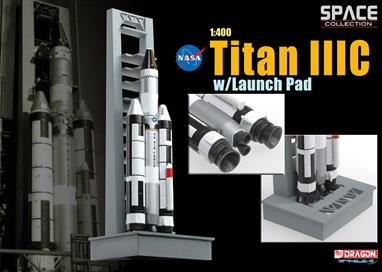 Dragon 56228 NASA Titan  IIIC Rocket on Launch Pad