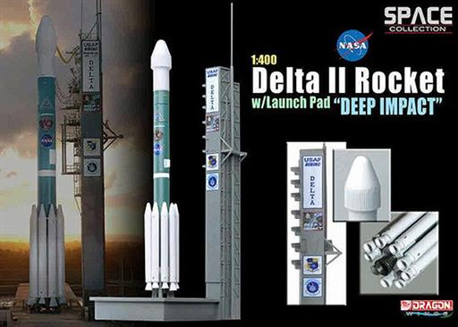Dragon Wings 56243 USAF Delta II Rocket 'GPS-IIR-16' on launch Pad Deep Impact Comet Collider Mission 1/400
