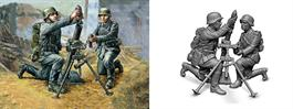 Zvezda 1/72 German 81mm Mortar with Crew 6111