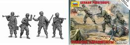 Zvezda 1/72 German Paratroopers WW2 Figure Set 6136