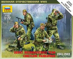 Zvezda 1/72 Soviet Reconnaissance Team Figure Set 6137Box contains 4 figures with equipment