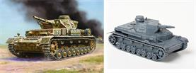 Zvezda 1/100 German Panzer 4 Ausf D Tank Snap together Kit 6151