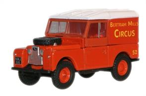 "Oxford Diecast 1/76 Land Rover Series 1 88"" Hard Top Bertram 76LAN188017"