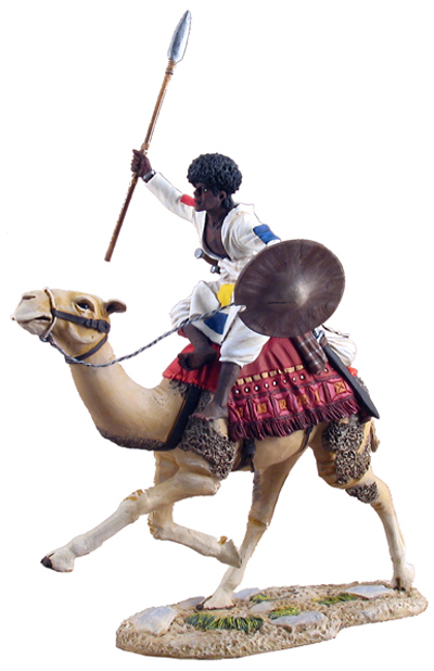 WBritain Mahdist Mounted On Camel Charging No.2 War Along the Nile Two Piece Set 1/30 27033