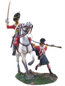 "W Britain "" Forward Gordons"" a Scots Grey Trooper and a wounded Gordon HighlanderThe Royal Scots Greys was a cavalry regiment of the British Army from 1707. The regiment's history began in 1678, when three independent troops of Scots Dragoons were raised. In 1681, these troops were regimented to form The Royal Regiment of Scots Dragoons, numbered the 4th Dragoons in 1694.The Gordon Highlanders was a line infantry regiment of the British Army that existed for 113 years, from 1881 until 1994.3 Piece Setlimited Edition of 6001/30 ScaleMatt Finish"