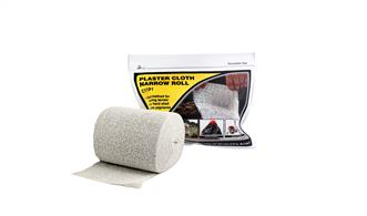 Specially sized for small areas/projects, Risers, Inclines and Road Base.Using Plaster Cloth is a quick, convenient and lightweight method for making durable hard shell or terrain base. Accepts Earth Colors Liquid Pigment, plaster castings and scenery materials easily. Use to fill gaps around rocks, tunnels and terrain seams. Packaged in a resealable bag.4 in x 5 yd, 5 ft2 (10.1 cm x 4.57 m, 46.4 dm2)