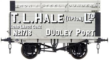Dapol Lionheart Trains LHT-F-073-002 O Gauge Hale 7 Plank Open Wagon number 1718 with Coke RailsA detailed ready to run O gauge 7 plank open wagon model from Lionheart Trains tooling finished in as a wagon fitted with coke rails and operated by Hales