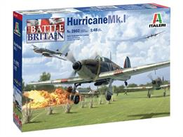 Italeri 2802 1/48th RAF Hurricane MK1 Battle of Britain Fighter Aircraft Kit