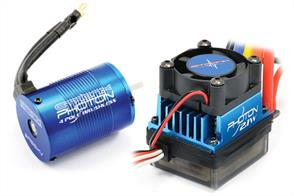 The convenience and performance of brushless technology is available for everyone with the Photon Sensorless system from Etronix. Simple to set-up and with a range of sensible KV rated motors for most r/c car applications and abilities the Photon is the ideal brushless start-up package or upgrade from a stock brushed set-up.