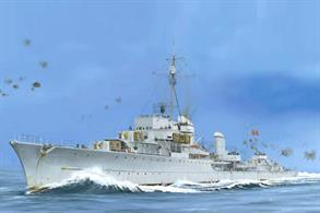 Trumpeter 1/350 German Destroyer Z-43 Kit 1944 05323Number of Parts 470+Length 364mmGlue and paints are required