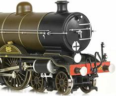 Finely detailed model of the Marsh design 4-4-2 Atlantic type express passenger locomotives as modified by Billinton to incorporate a superheater and given class reference H2. This model of 422 is finished in the Masrh era LB&SCR umber brown livery as running before the grouping in 1922.