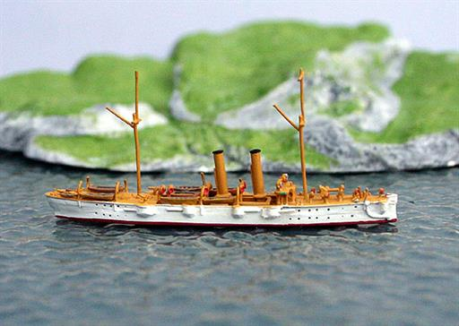 Saratoga Model Shipyard SMY48 USS Detroit, C-10, light cruiser, 1898 1/1250