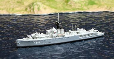 Formerly HMS Flamingo, a Black Swan class sloop, this model shows her in her training role.