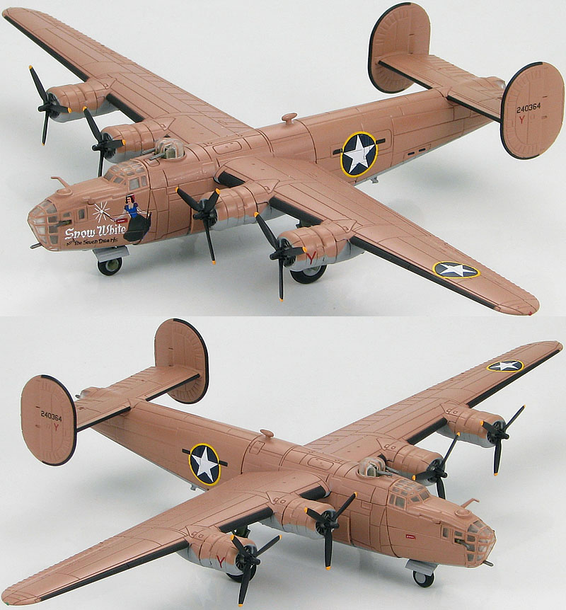 Hobby Master HA9100 B-24D Liberator 98th Bomb Group 343rd Bomb Sqn Snow White and the Severn Dwarfs 1943<br><br>