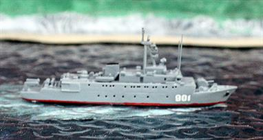 A 1/1250 scale, painted & finished metal model of a Russian Gorya-class vessel.