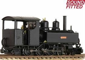 DCC and sound fitted model of the Ashover Light Railways Baldwin 4-6-0 tank locomotive Bridget.One of a number of Baldwin locomotives purchased by the Clay Cross company for the Ashover line Bridget is finished in black livery.