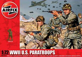 Airfix 1/72 WW2 US Paratroops Unpainted Plastic Figures A01751This set includes a variety of the weapons used by the Italian Army in WWII. Set includes 48 figures.