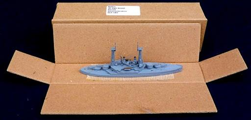 Navis Neptun 309 USS Michigan, an all big gun battleship drawn before Dreadnought 1/1250