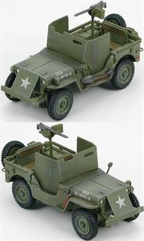 "Bantam Car Company won the initial contract to provide a light motor vehicle. In 1941 the Military wanted to standardize so one manufacturer was selected, Willys-Overland mostly because of its ""Go Devil"" engine the troops raved about. The Willys Jeep had a designation of MB, M (Military) B (second vehicle design). Eventually Willys couldn't keep up so Ford was contracted to produce an almost identical vehicle, the GPW. During World War II there was a total of 647,870 Jeeps produced by three manufacturers; Willys- Overland produced 362,841 of them. Approximately 51,000 were exported to the USSR."