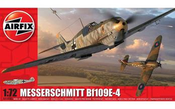 Airfix A01008A 1/72nd German Messerschmitt Bf109 E-4 WW2 Fighter KitNumber of Parts 64  Length 120mm   Wingspan 137mm