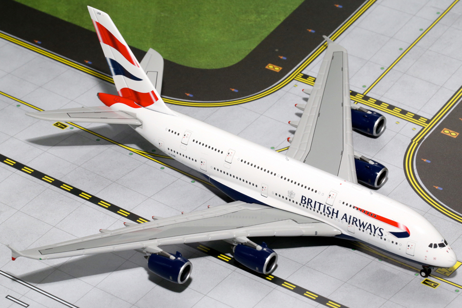 Gemini Jets 1/400 British Airways A380-800 G-XLEB Aircraft Model GJBAW1500<BR>Gemini Jets GJBAW1500 a 1/400th scale diecast model of a British Airways Airbus A380-800 G-XLEB