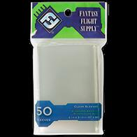 "50 sleeves per package. Package Color Code: Green. Fits Cards of This Size: 2 1/4"" x 3 1/2"" (57x89 MM). Examples of games with cards that this sleeve will fit: Citadels™, Munchkin™, Descent: Journeys in the Dark™, War of the Ring™, Bohnanza™"