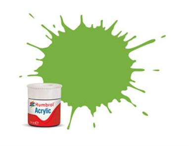Humbrol 38 Lime Gloss 14ml Acrylic Paint A12/38