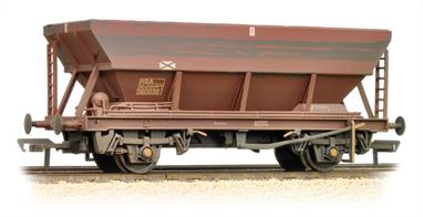 Bachmann Branchline 38-005D OO Gauge BR HEA Coal Hopper Wagon BR Freight Brown LiveryA new number for the HEA domestic coal hopper wagon. This model is finished in the most common plain brown livery, completed with light weathering of the chassis and hopper bottom panels, highlighting the running gear and brake system details.These air-braked hoppers were built to replace the 21-ton hoppers built in the 1950s on the distribution of domestic and industrial coal. These smaller users were served using the air brake network, later known as speedlink. As coal traffic declined after the miners strike of the 1980s many of these hoppers were put to use as barrier wagons.