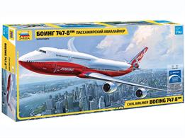 Zvezda 7010 1/144th Boeing 747-8 Airliner KitNumber of Parts 154   Length 530mm