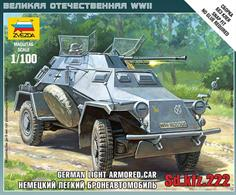 Zvezda 1/100 German Sd Kfz 222 Armoured Car 6157