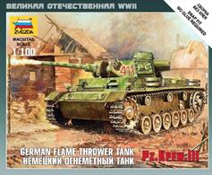 Zvezda 1/100 Panzer III Flamethrower Tank 6162