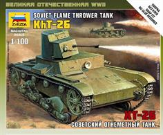 Zvezda 1/72 T-26 Flamethrower Tank 6165