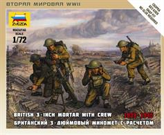 Zvezda 1/72 British Mortar with Crew 1939-42 6168