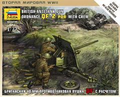 Zvezda 1/72 British QF 2-pdr Anti Tank Gun with Crew 6169