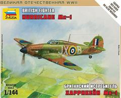 Zvezda 1/144 British Fighter Hurricane Mk1 6173Paints are required to complete the model (not included)