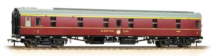 Bachman Branchline 39-500 00 Gauge BR Mk.1 SLF First Class Sleeper Coach Maroon LiveryA new model of the British Railways Mk.1 type first class sleeping car classified SLF, standing for SLeeper First class.These coaches were fitted with single berths in each compartment providing additional privacy for first class passengers, second class compartments accomodating two passengers.This new model brings the sleeper coaches up-to-date, matching the standards of detail found in the Bachmann Mk.1 coach model range.